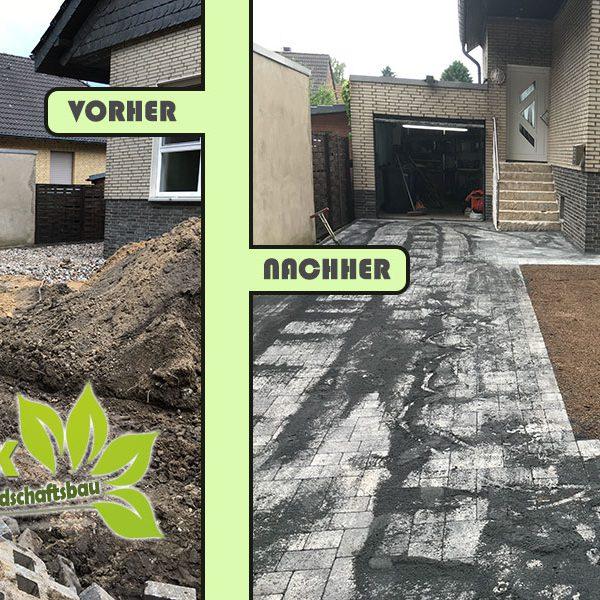 Pflastersteine, Gartengestaltung und Rasen