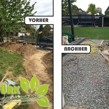 Gartengestaltung, Rollrasen und Zaunbau