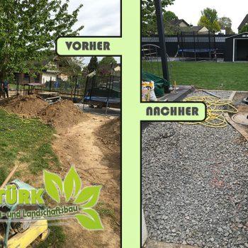Gartengestaltun, Zaunbau und Rollrasen
