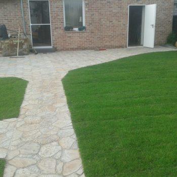 Terrasse, Rasen, Garten