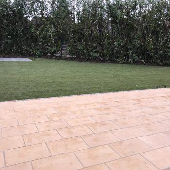 Rollrasen - Terrasse - Galabau Ertürk